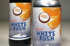 White Rush Bottle and Can Beer Labels