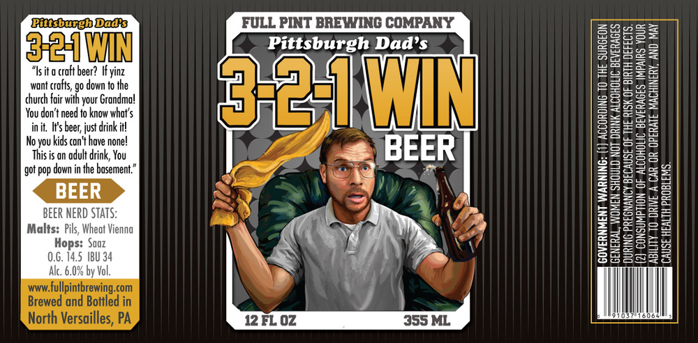 Reppin' the Burgh: Pittsburgh Dad's 3-2-1 Win! Beer Labels