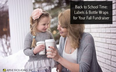 Back to School Time: Labels & Bottle Wraps for Your Fall Fundraiser