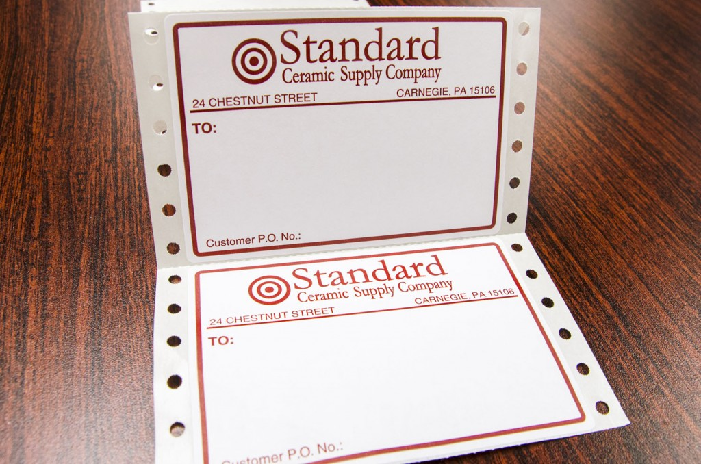 Pin Fed Labels
