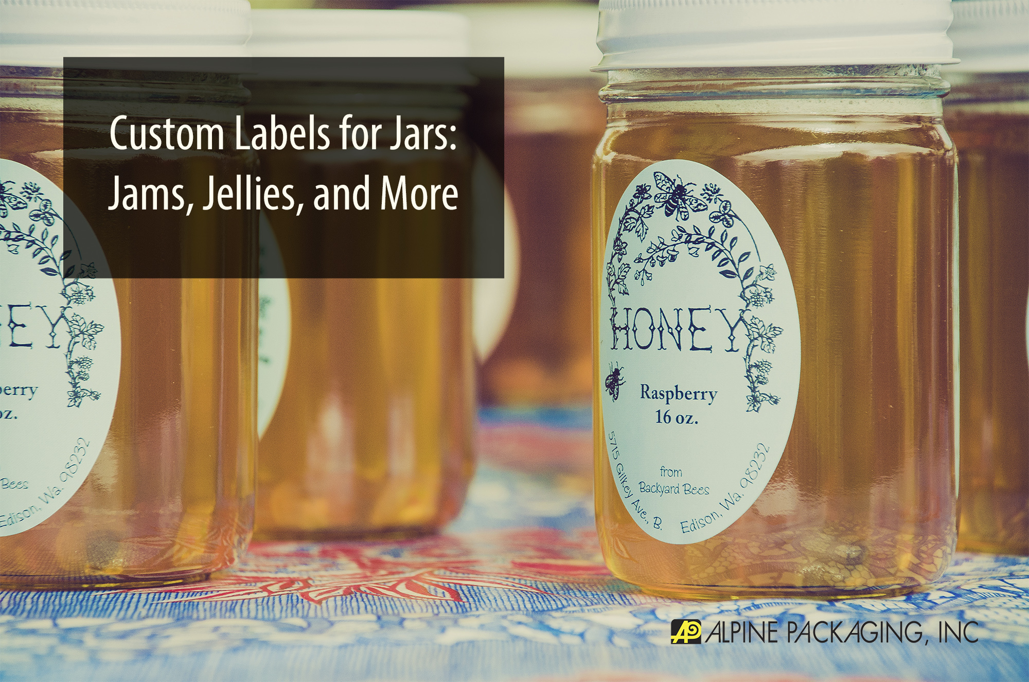 custom labels for jars jams jellies more alpine With custom jars and labels