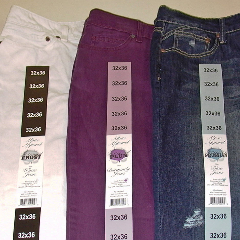Custom Printed Clothing Labels, Garment Labels, Size
