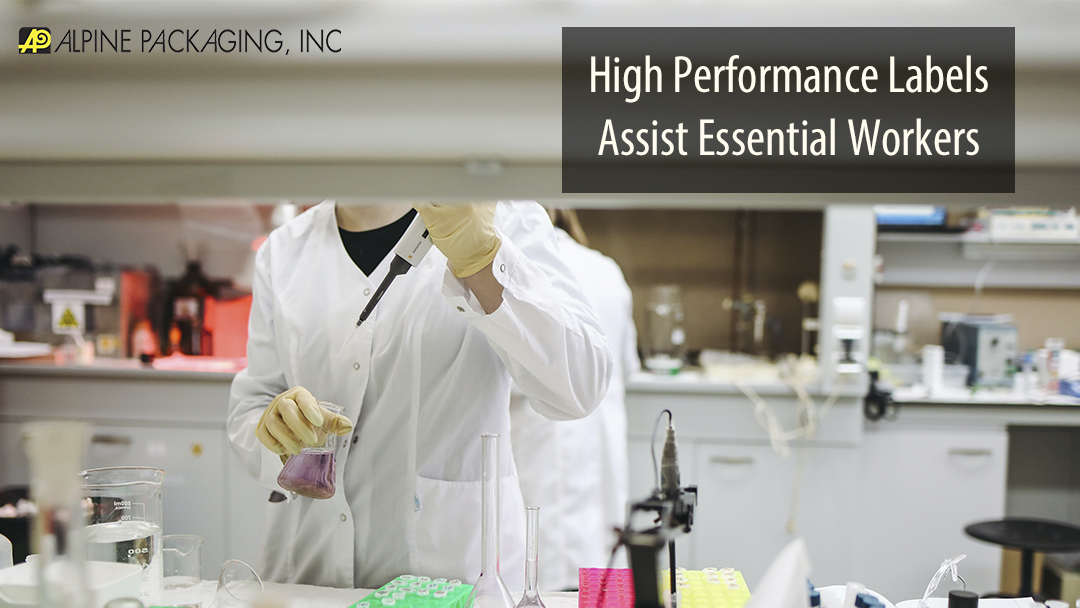 High Performance Labels Assist Essential Workers